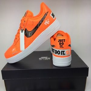 NEW Nike Air Force 1 '07 PRM 'Just Do It' Sz 9
